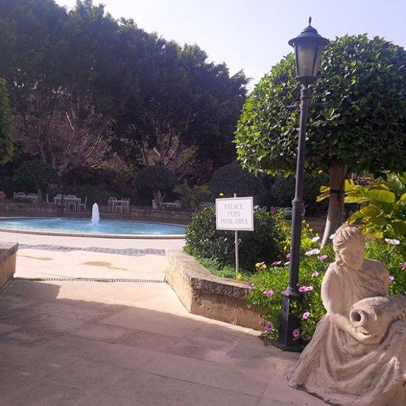 Doggy swimming pool at the Corinthia Palace Hotel on Malta