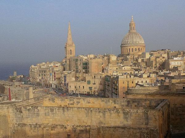 A view across Valetta