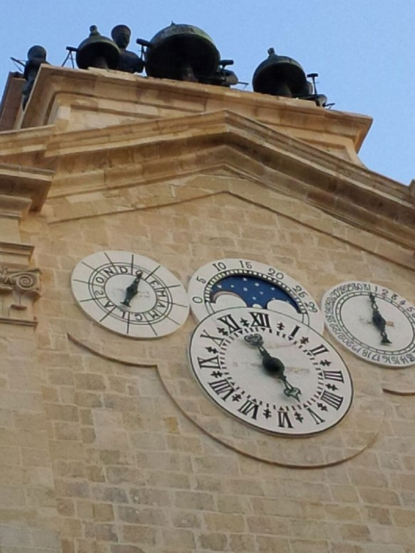 The clock tower of the Grandmaster Palace in Valetta