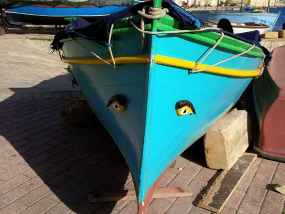 This boat has eyes!