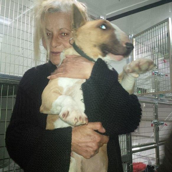 Goodbye hugs for Peabody from John's mum