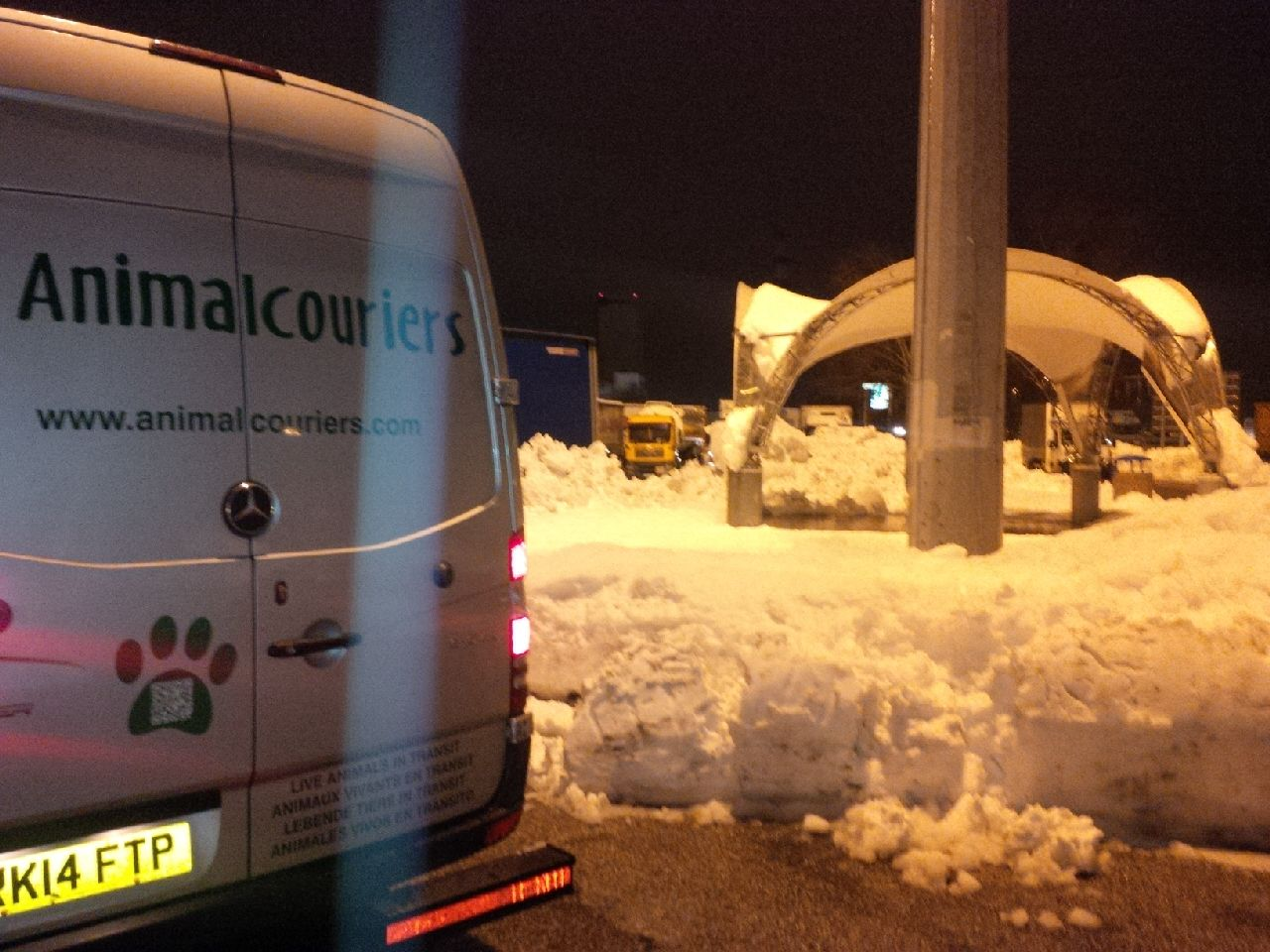 Snowy scenes in Italy persuaded us to keep motoring