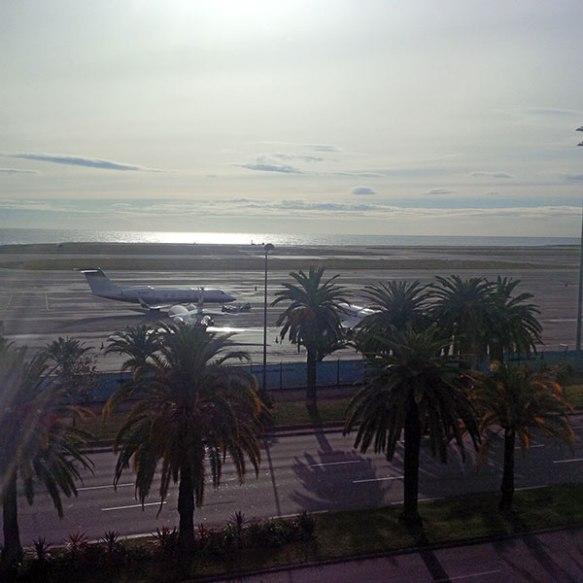 View over Nice airport yesterday morning