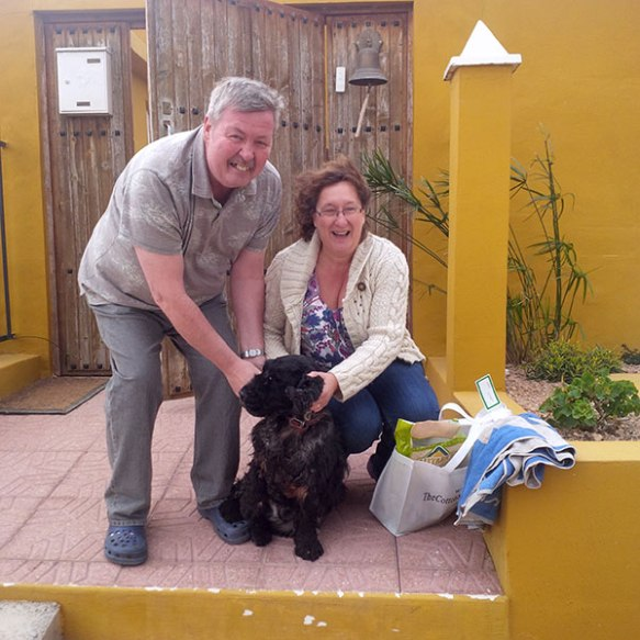 A rapturous welcome home for Charlie from his owners