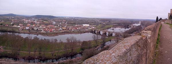 View over Ciudad Rodrigo from the parador parapet