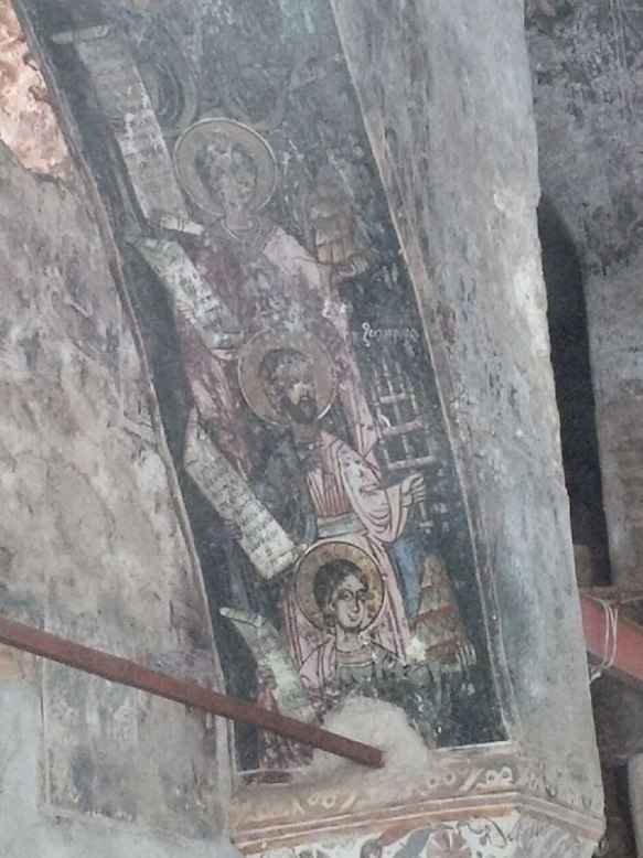 Some paintings were made directly on the stonework