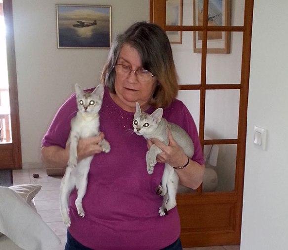 Jackie with the wonderfully named Jalankayu Joquet and Jalankayu Jetnayu
