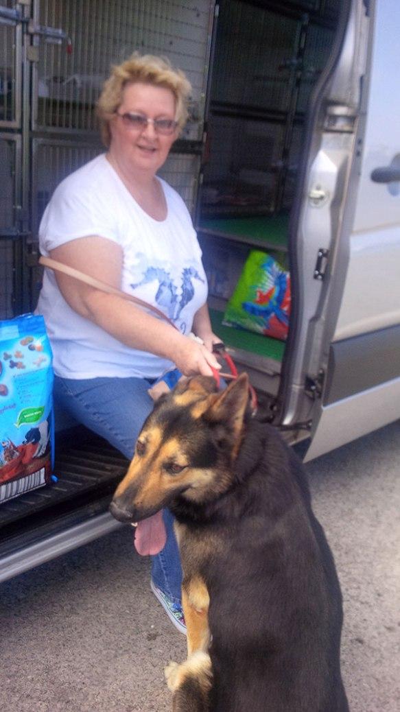Rosemary with her handsome hound Rafa