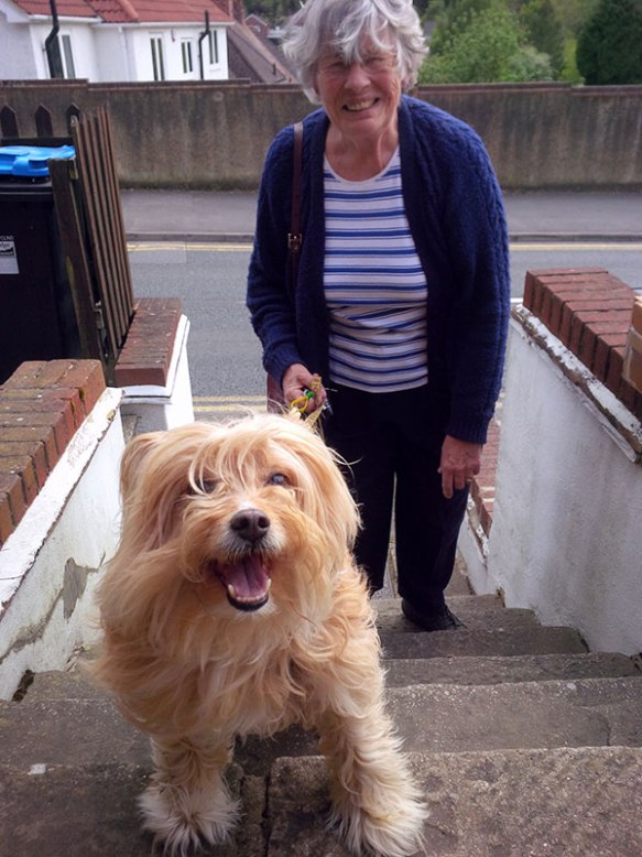 Freya brings us her dog Booby, who looks like he can hardly wait for his summer hols on Crete!