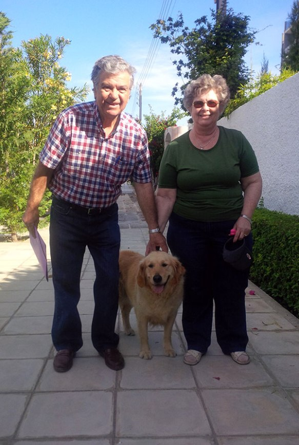 Baloo with her doting grandparents