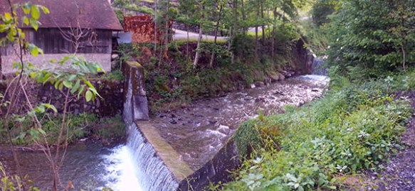 The river itself — very noisy and boisterous