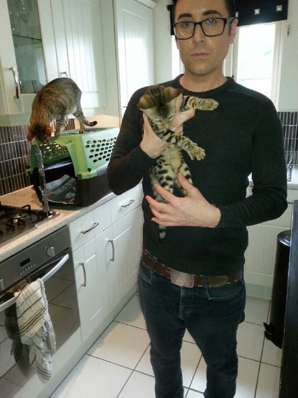 Sanji with breeder Dane