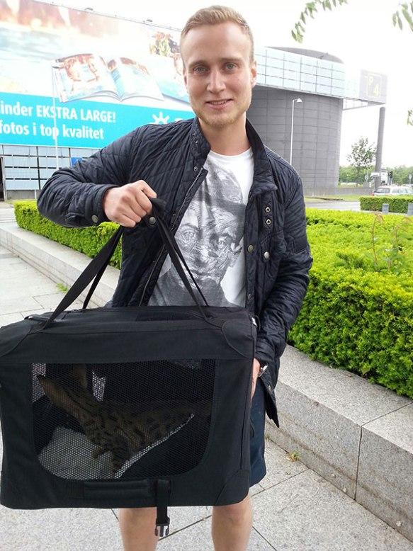 Sanji with proud new owner Oskar