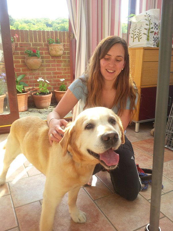 Simonetta says goodbye to Pachi — she's very much looking forward to seeing him again next month