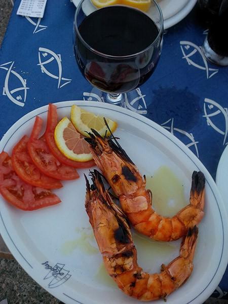 Fresh local prawns, what a treat