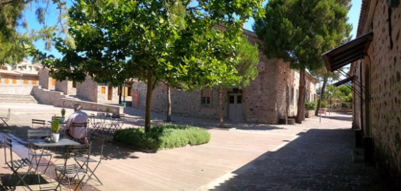 The former olive oil mill, now a beautifully restored working museum of oil production on Lesvos