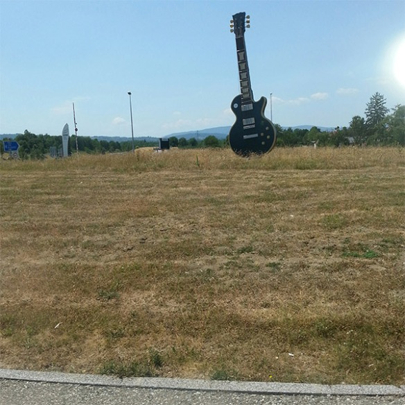 We've driven round some splendid roundabouts on this trip. This one in France…