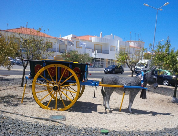 A past mode of transport in Portugal — fortunately we don't have to rely on it!