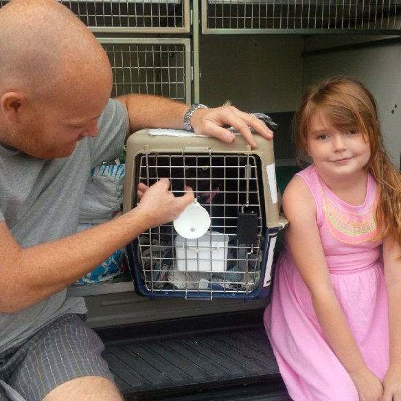 A happy reunion for Tilly with members of her family