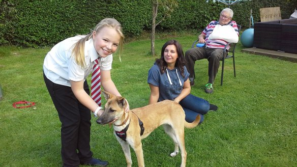 Rikki meeting her new family…