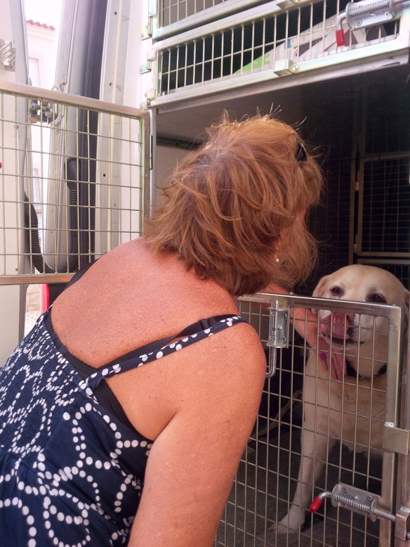 Tara's mum was quick off the mark to greet Dexter