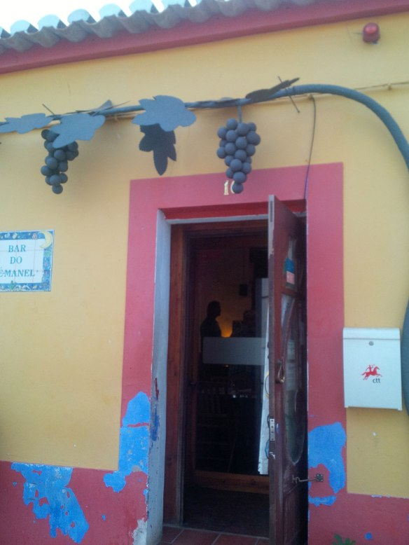 The doorway to the little restaurant in Barao where we enjoyed a wonderful dinner