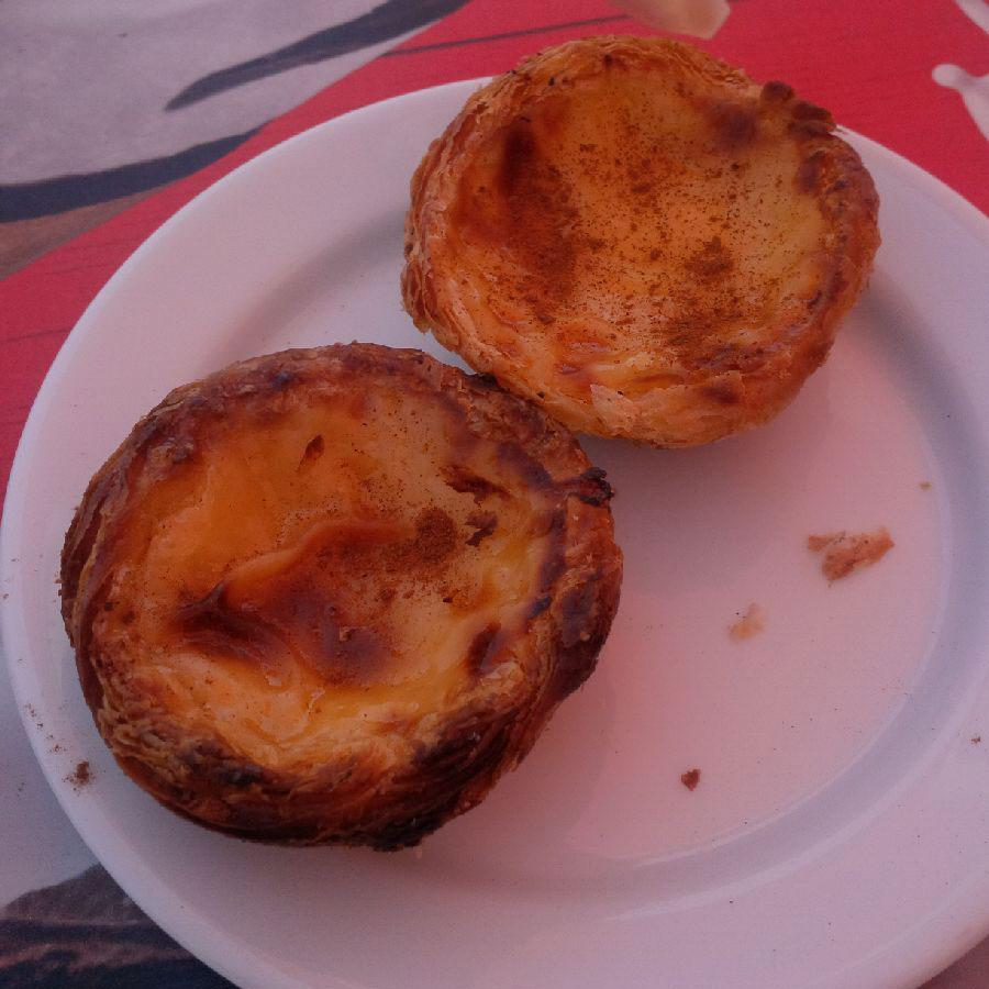 Evidence of our final egg custard tart opportunity before leaving Portugal