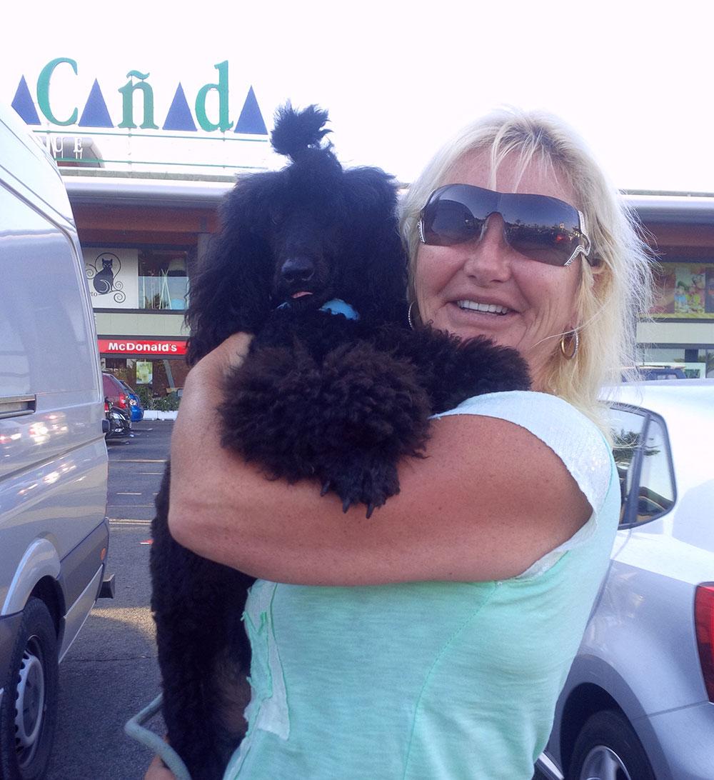 Louis gets a goodbye hug from Lorna