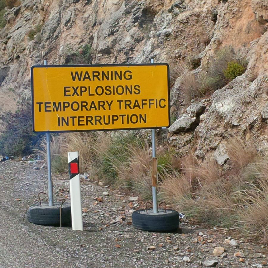 Here's a road sign you don't see every day!