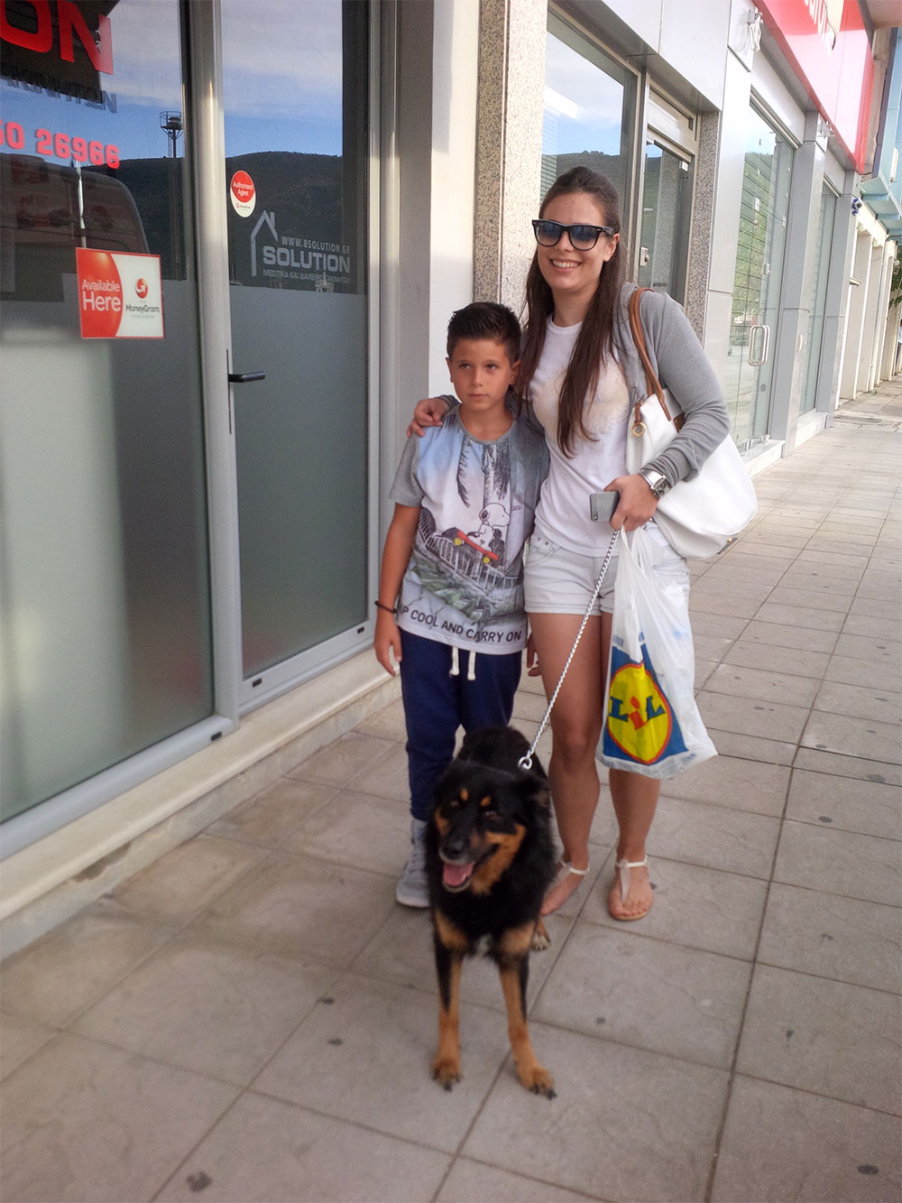 Angeliki and her son with Max