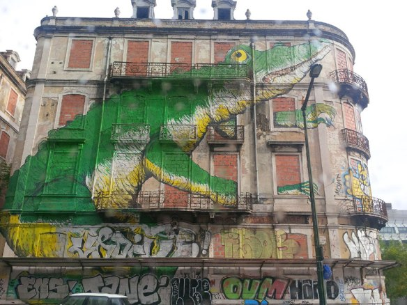 Now that's what I call graffiti — spotted in central Lisbon