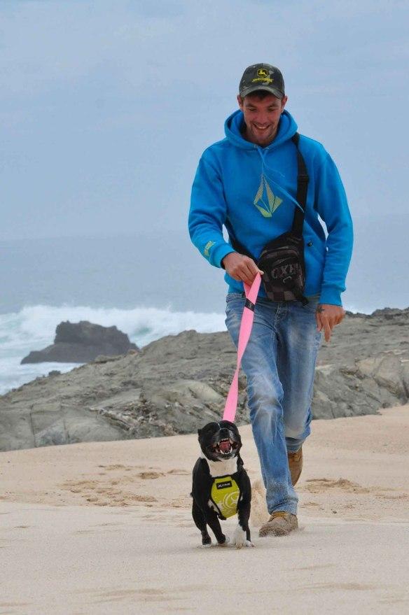 Poppy loves the beach