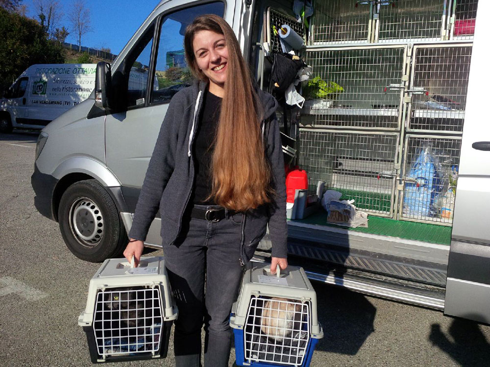 Francesca delighted to be reunited with her cats