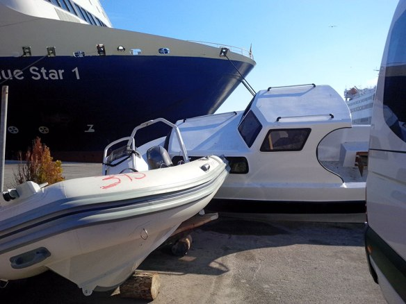 Impounded boats on Lesvos