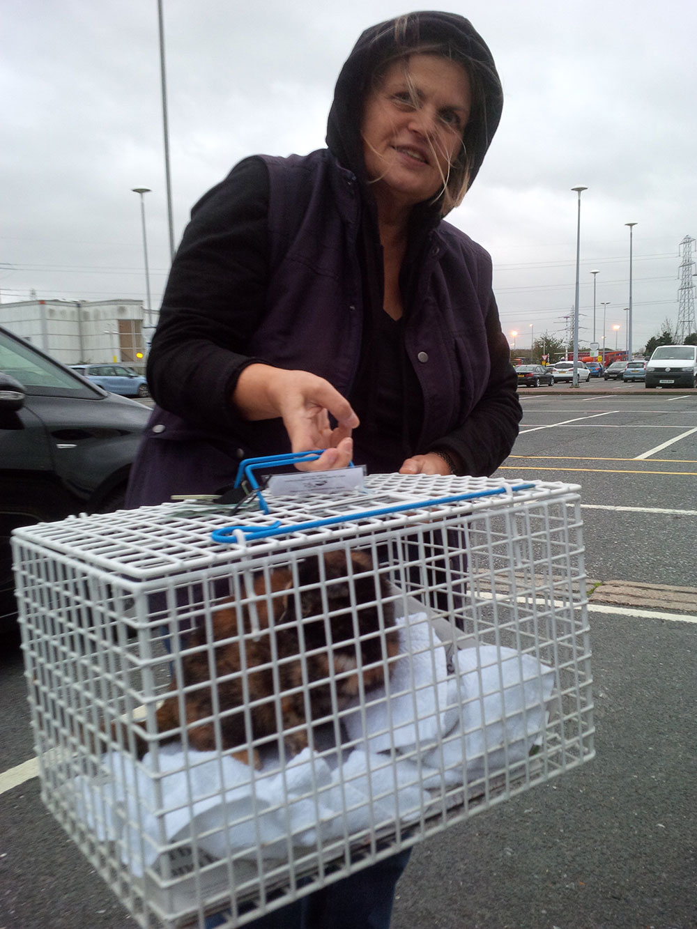 We met Liana at Thurrock Services, who was very excited to receive Phantom